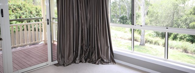 Curtains in winter