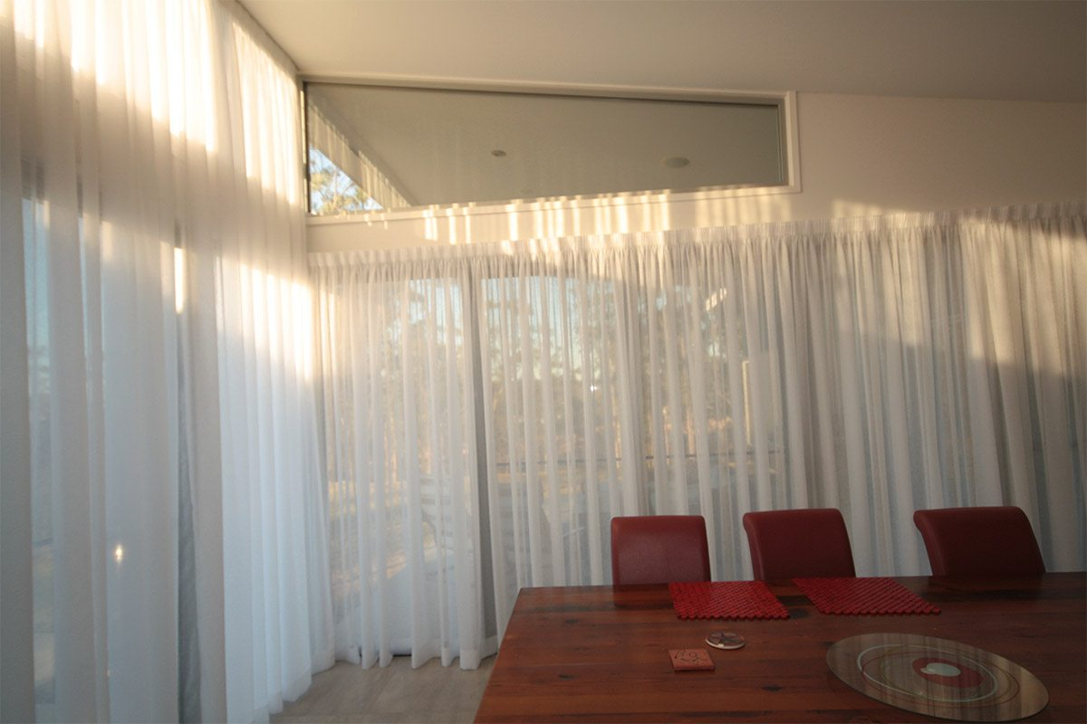 high drop curtains