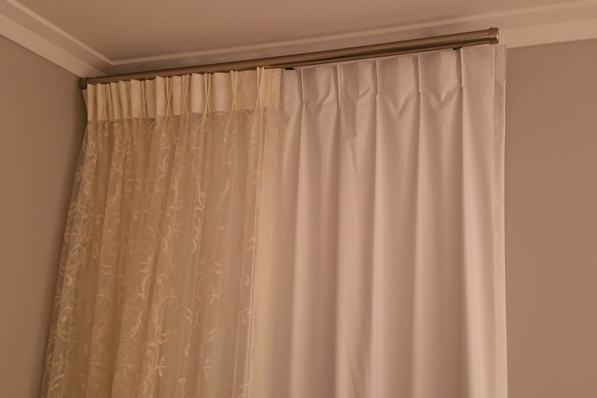 curtains on poles