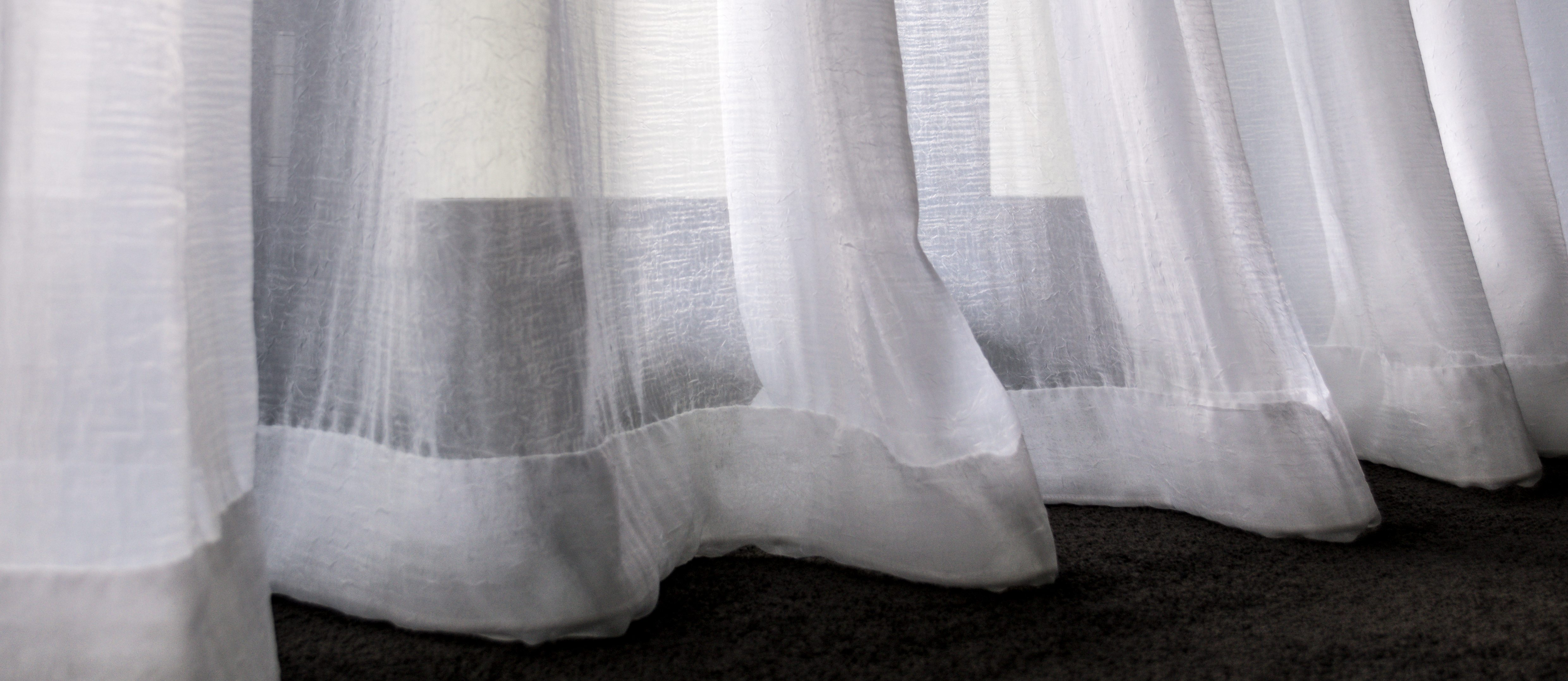 pleated sheer floor view
