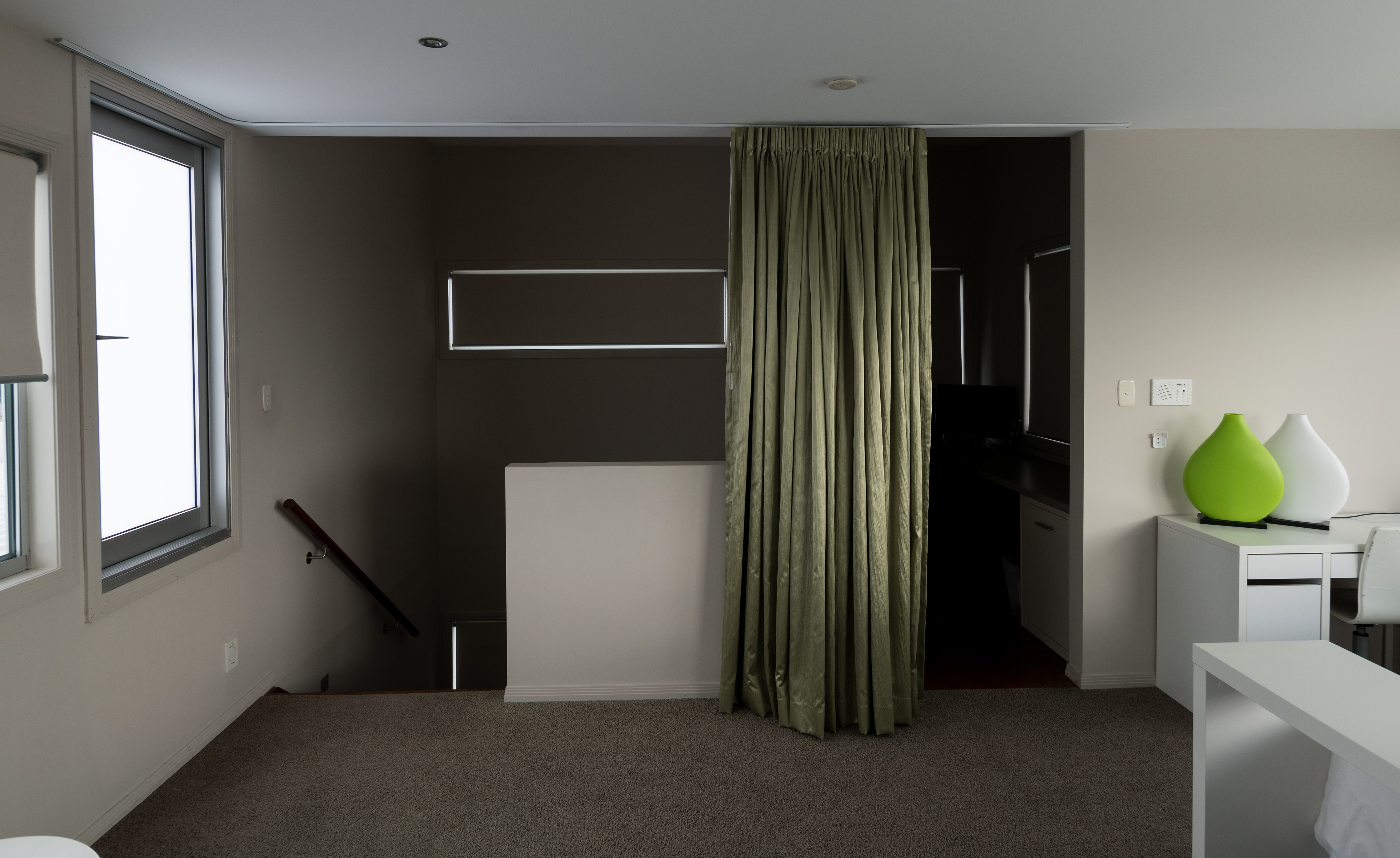 SPP curtain as noise, light and temp control, also room divider-open2